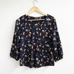 Papermoon : Navy Floral Blouse Size XS